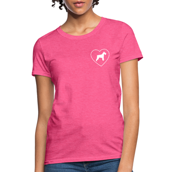 I Heart Schnauzer! | Comfort Tee | Women - heather pink
