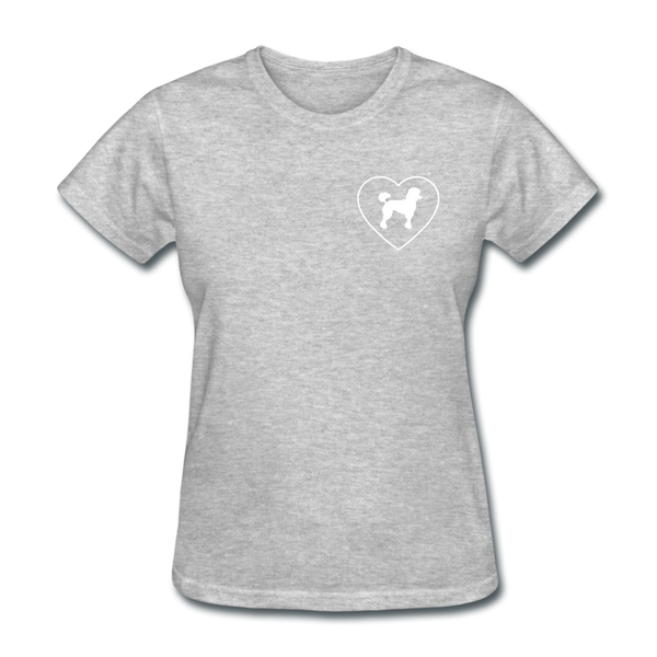 I Heart Poodles! | Comfort Tee | Women - heather gray