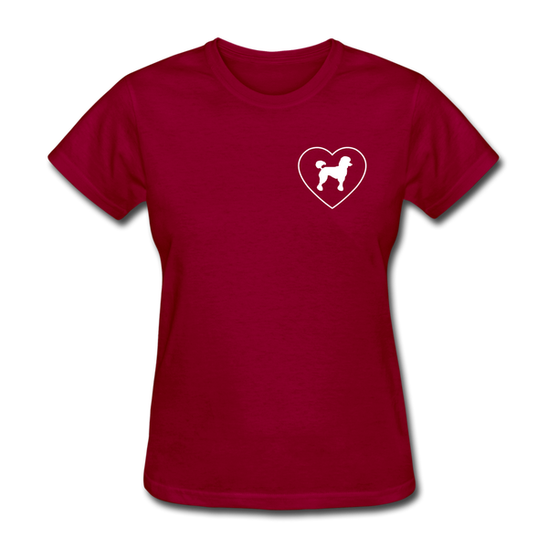 I Heart Poodles! | Comfort Tee | Women - dark red