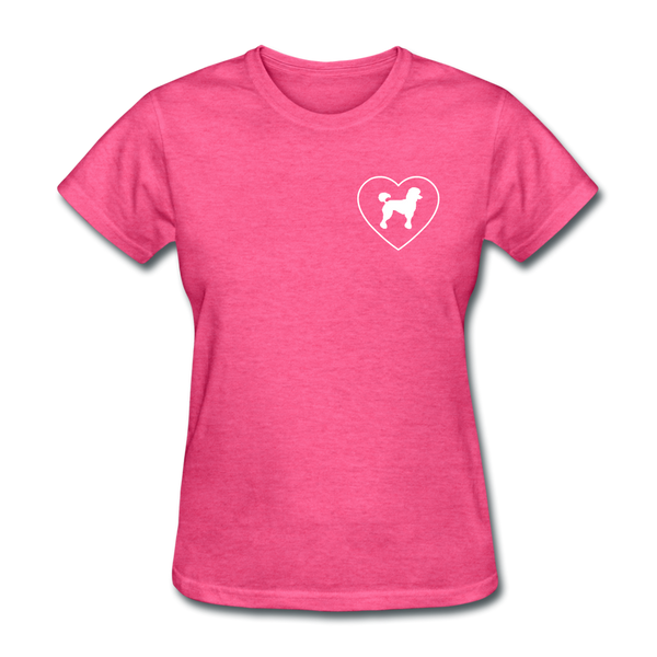 I Heart Poodles! | Comfort Tee | Women - heather pink