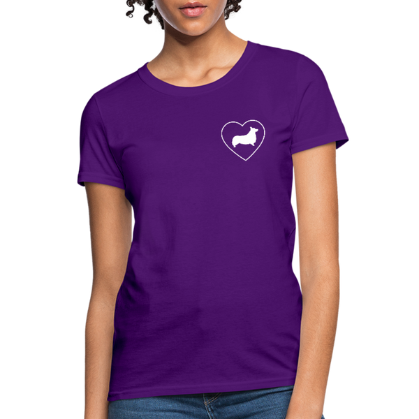 I Heart Corgis! | Comfort Tee | Women - purple