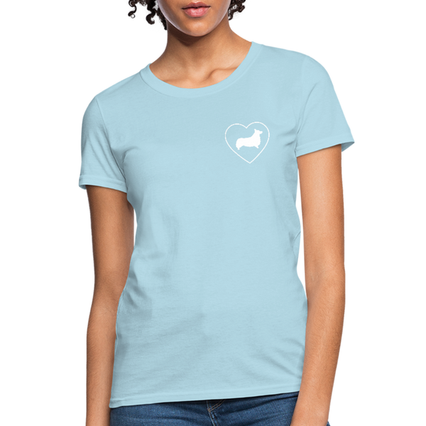 I Heart Corgis! | Comfort Tee | Women - powder blue