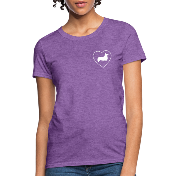 I Heart Corgis! | Comfort Tee | Women - purple heather