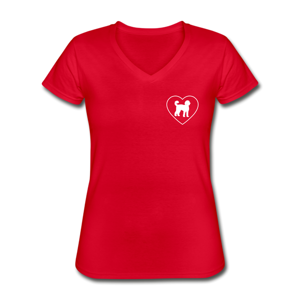 I Heart Labradoodles! | V-Neck Tee | Women - red