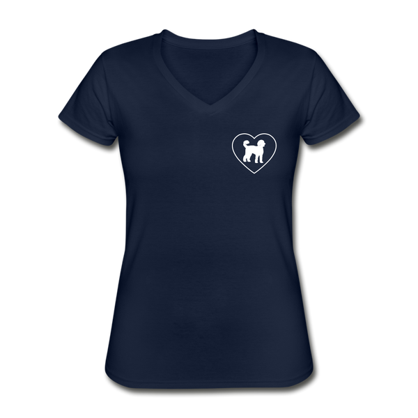 I Heart Labradoodles! | V-Neck Tee | Women - navy