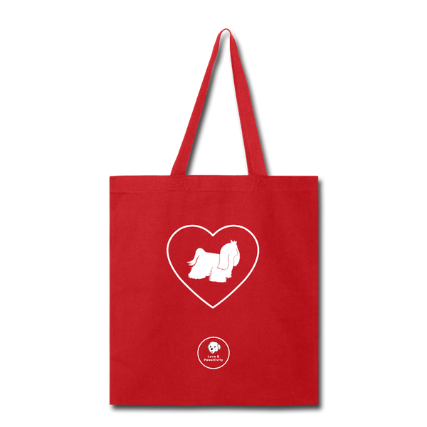 I Heart Malteses! | Tote Bag - red