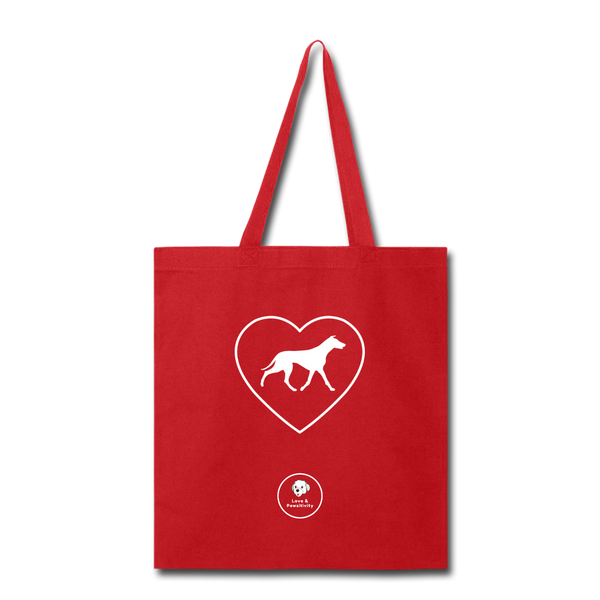 I Heart Greyhounds! | Tote Bag - red