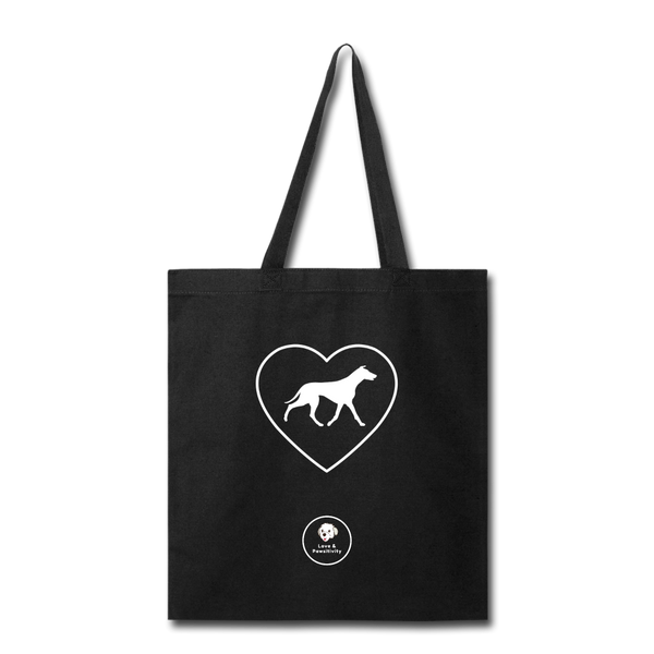 I Heart Greyhounds! | Tote Bag - black
