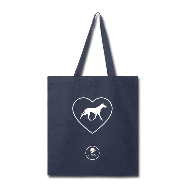 I Heart Greyhounds! | Tote Bag - navy