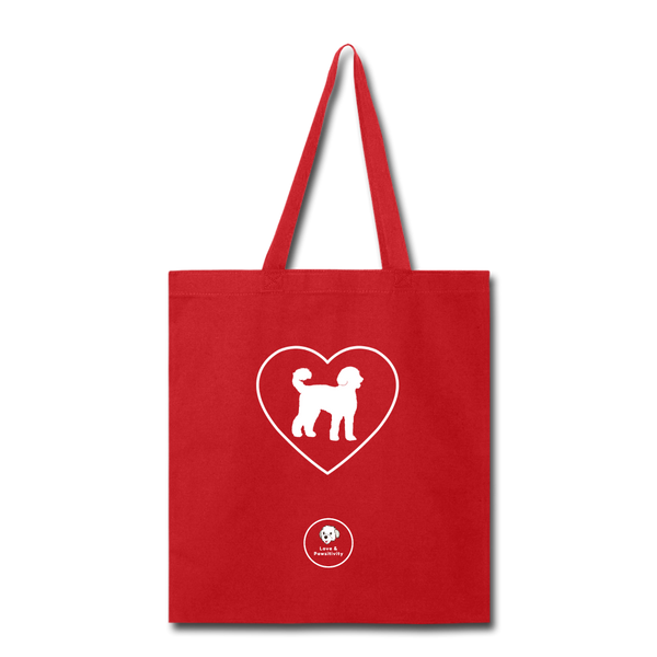 I Heart Labradoodles! | Tote Bag - red