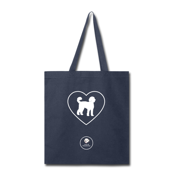 I Heart Labradoodles! | Tote Bag - navy