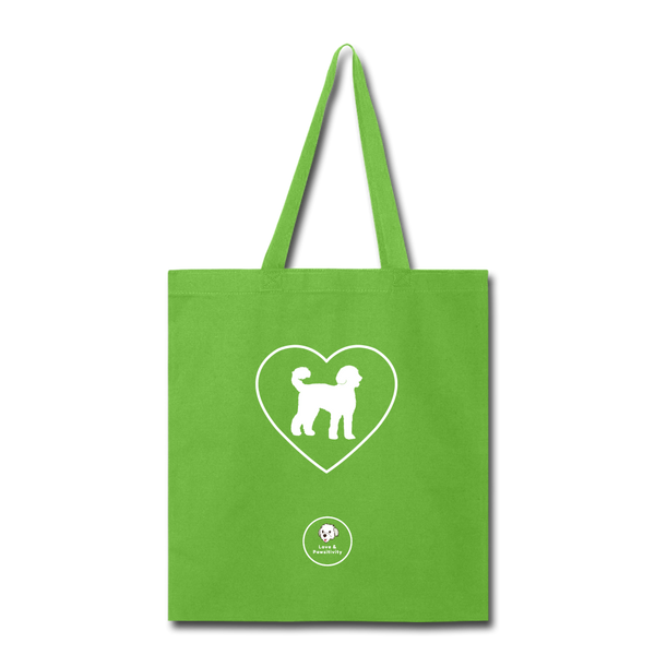 I Heart Labradoodles! | Tote Bag - lime green