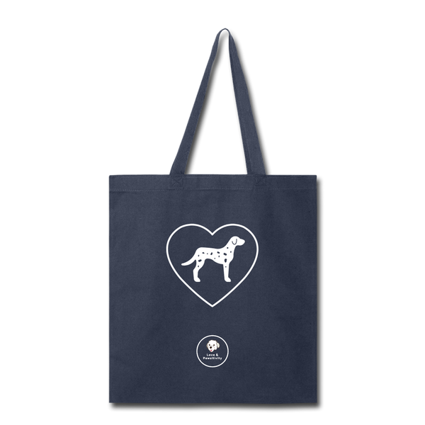 I Heart Dalmatians! | Tote Bag - navy