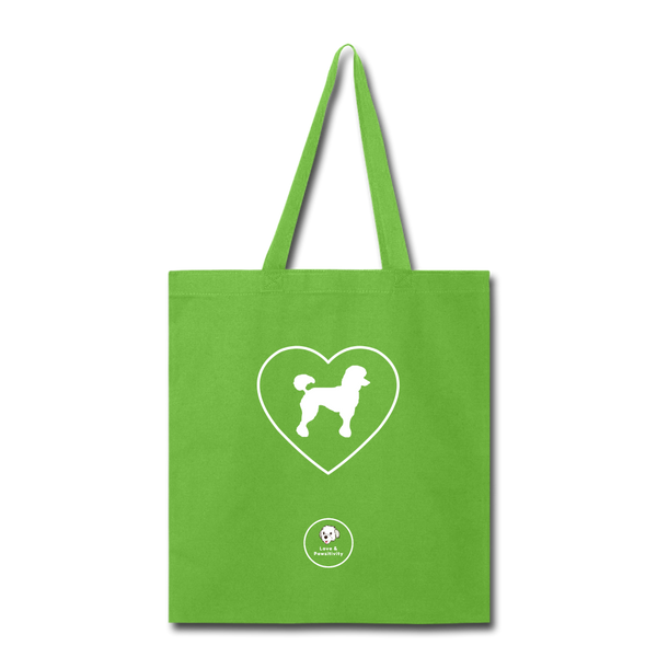 I Heart Poodles! | Tote Bag - lime green
