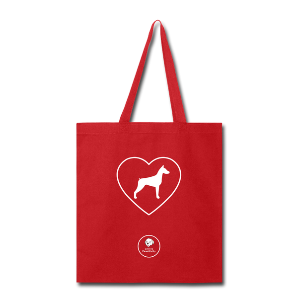 I Heart Dobermans! | Tote Bag - red
