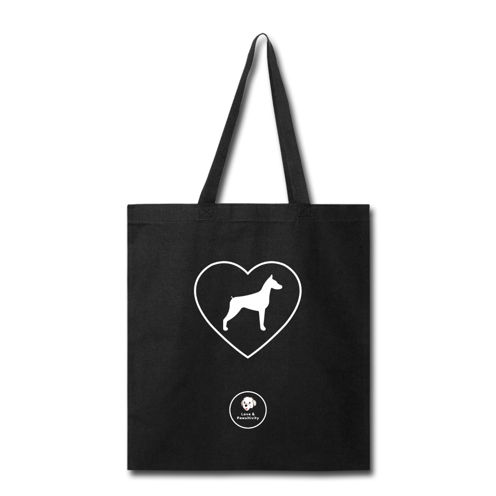 I Heart Dobermans! | Tote Bag - black