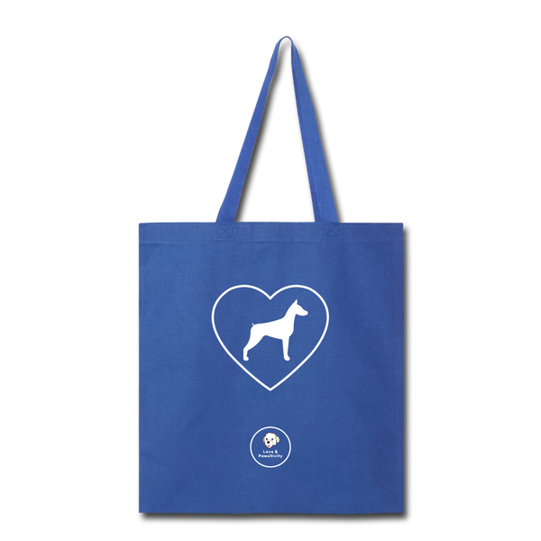 I Heart Dobermans! | Tote Bag - royal blue