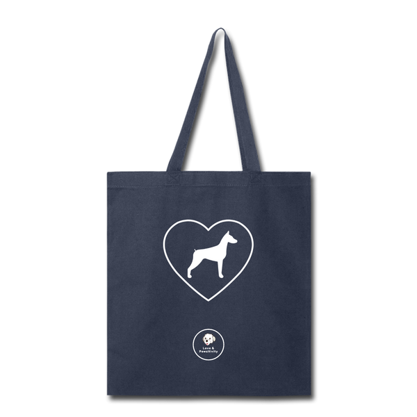 I Heart Dobermans! | Tote Bag - navy