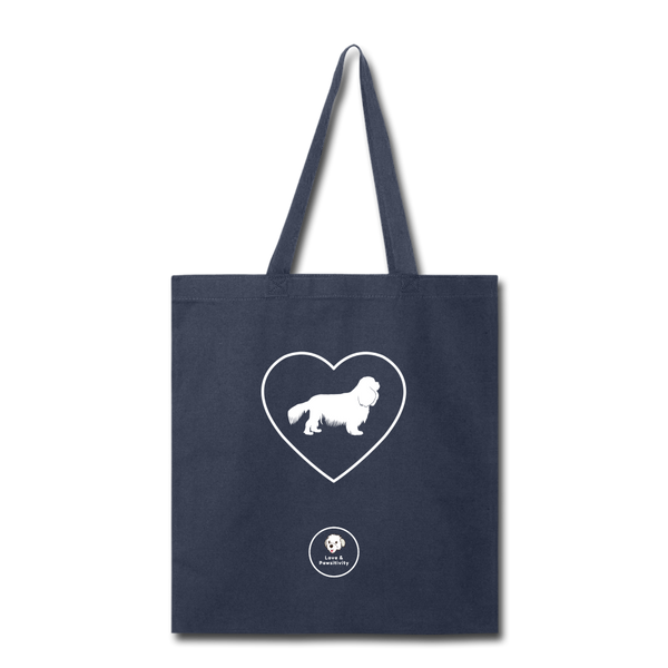 I Heart Cavaliers! | Tote Bag - navy