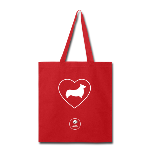 I Heart Corgis! | Tote Bag - red