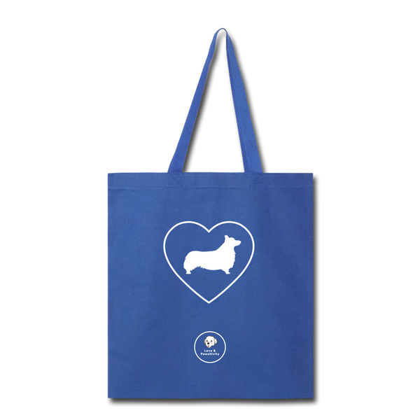 I Heart Corgis! | Tote Bag - royal blue
