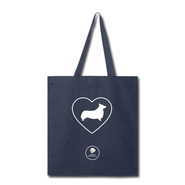 I Heart Corgis! | Tote Bag - navy