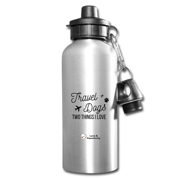 Travel & Dogs | Reusable Water Bottle - silver
