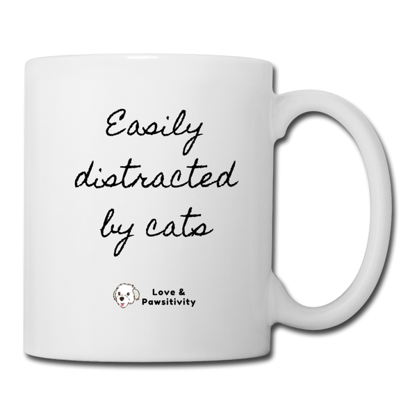 Easily Distracted by Cats | White Mug - white