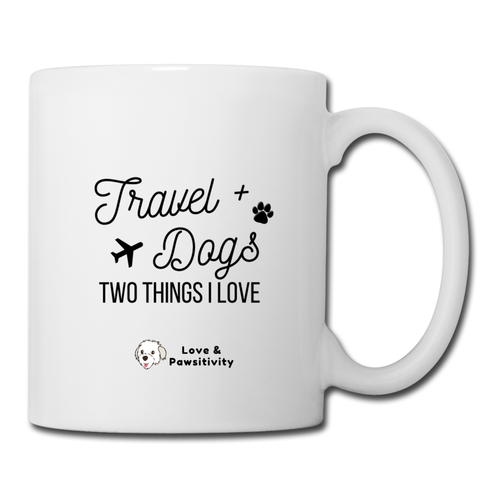 Travel & Dogs | White Mug - white