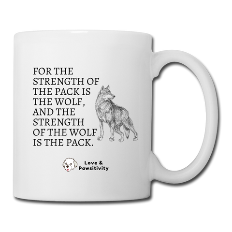 Strength of the Pack | White Mug - white