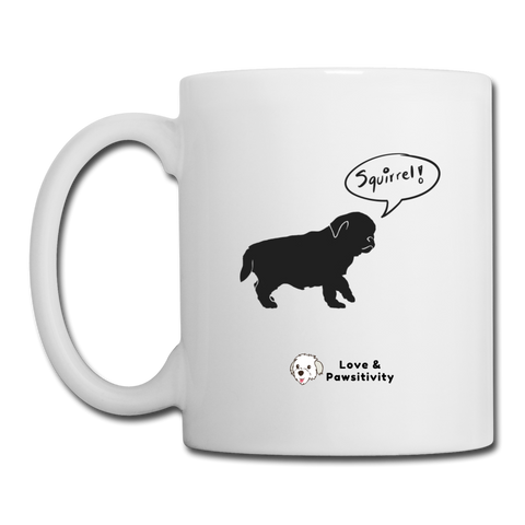 Squirrel! - Pug | White Mug - white