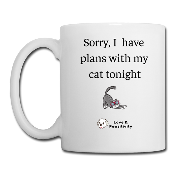 Plans With My Cat | White Mug - white