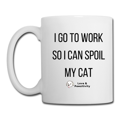 Spoil My Cat | White Mug - white