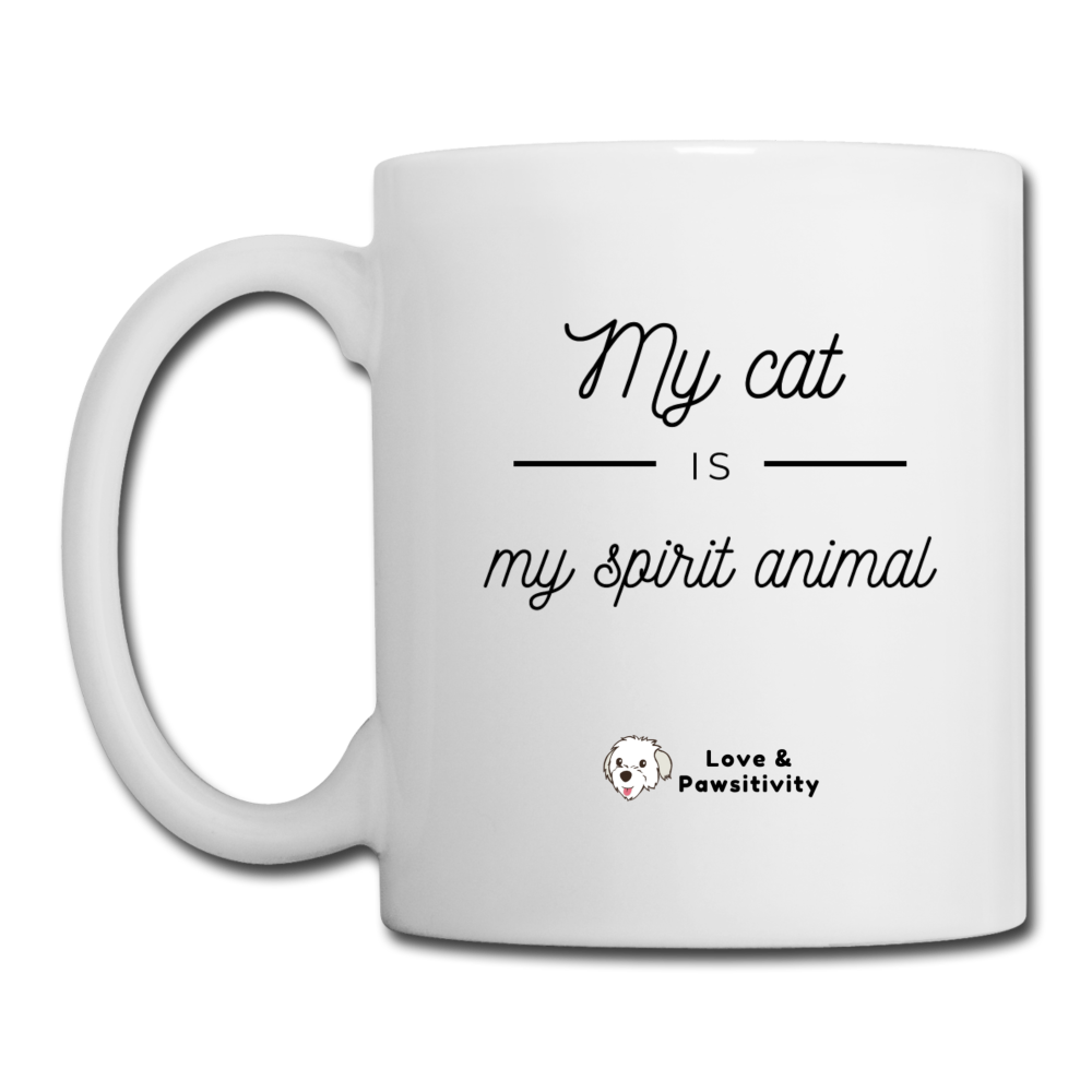 My Cat is My Spirit Animal | White Mug - white