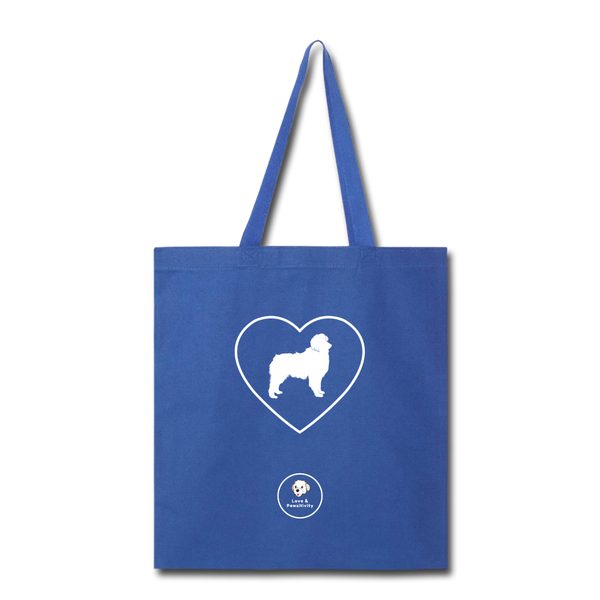 I Heart Australian Shepherds! | Tote Bag - royal blue