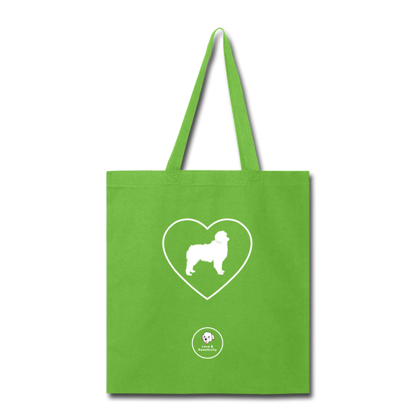 I Heart Australian Shepherds! | Tote Bag - lime green