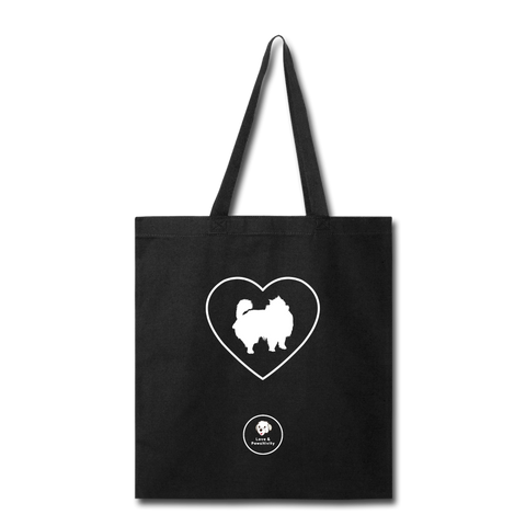 I Heart Pomeranians! | Tote Bag - black