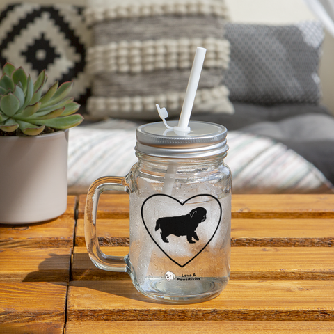 I Heart Pugs! | Mason Jar - clear