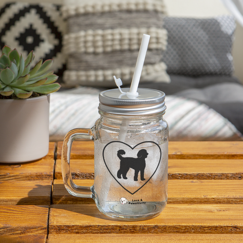 I Heart Labradoodles! | Mason Jar - clear