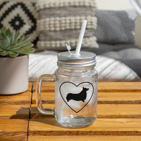 I Heart Corgis! | Mason Jar - clear