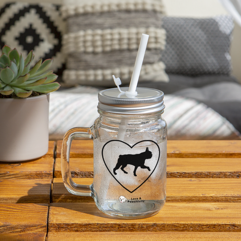 I Heart Boston Terriers! | Mason Jar - clear