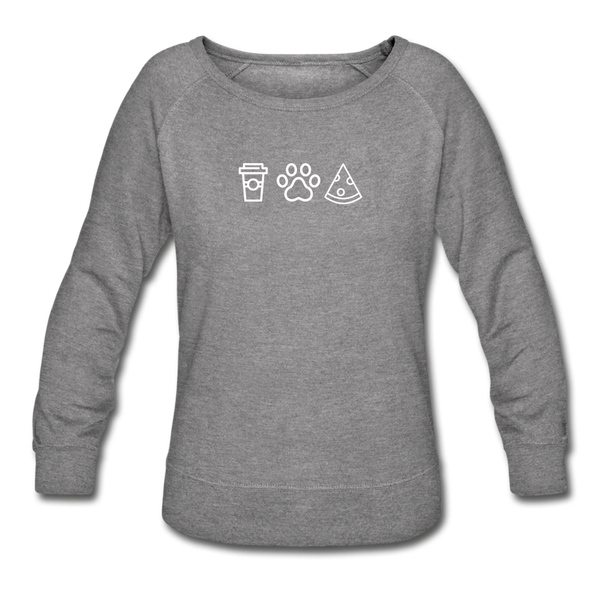 Coffee, Pets, & Pizza | Sweatshirt | Women - heather gray