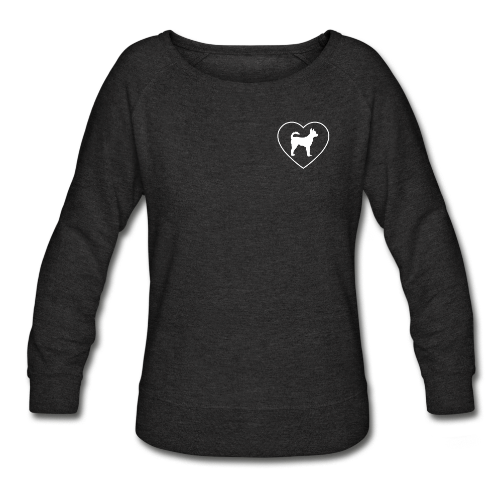I Heart Chihuahuas! | Sweatshirt | Women - heather black