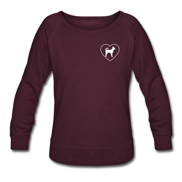 I Heart Chihuahuas! | Sweatshirt | Women - plum