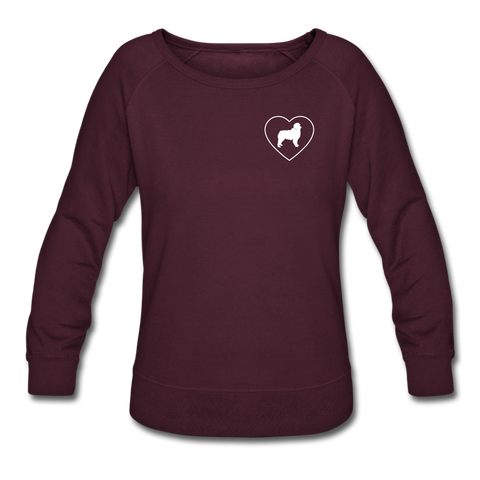 I Heart Australian Shepherds! | Sweatshirt | Women - plum