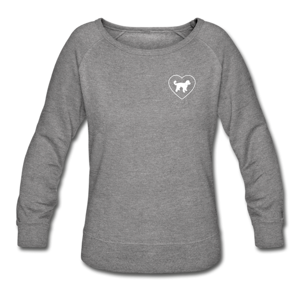 I Heart Doodle Mixes! | Sweatshirt | Women - heather gray