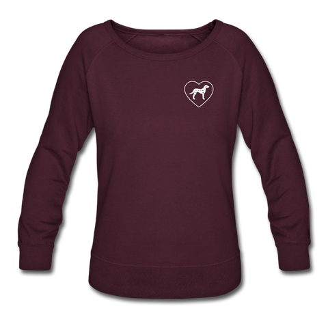 I Heart Dalmatians! | Sweatshirt | Women - plum