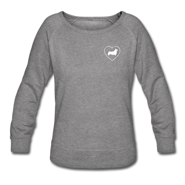 I Heart Corgis! | Sweatshirt | Women - heather gray