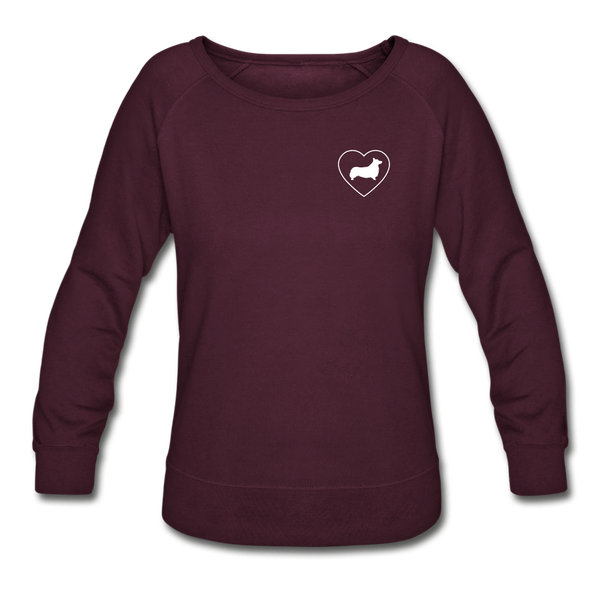 I Heart Corgis! | Sweatshirt | Women - plum