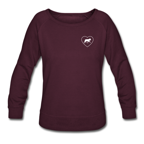 I Heart Boston Terriers! | Sweatshirt | Women - plum